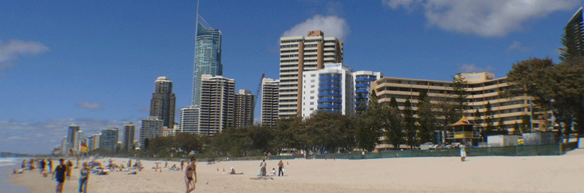 The Sands Surfers Paradise beach side.