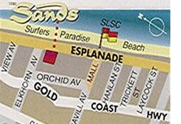 The Sands Surfers Paradise map
